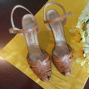 Vintage 70's Bandolino Made in Italy Ankle Strap